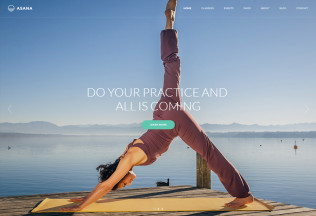Asana – Premium Responsive Sport and Yoga WordPress Theme