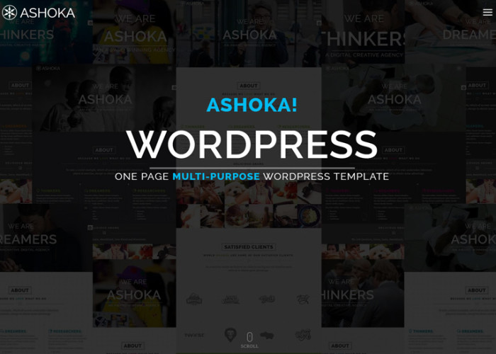Ashoka – Premium Responsive One Page Multi-Purpose WordPress Theme