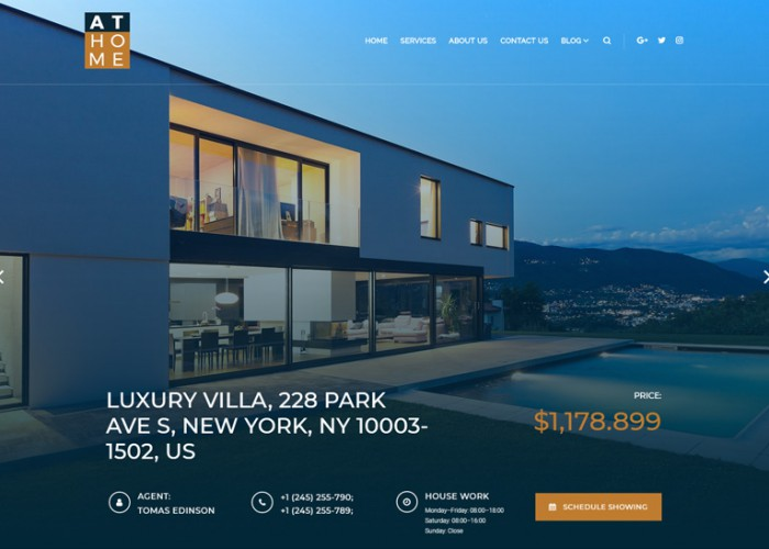 At Home – Premium Responsive Real Estate WordPress Theme