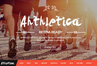 Athletica – Premium Responsive One Page Parallax HTML5 Template