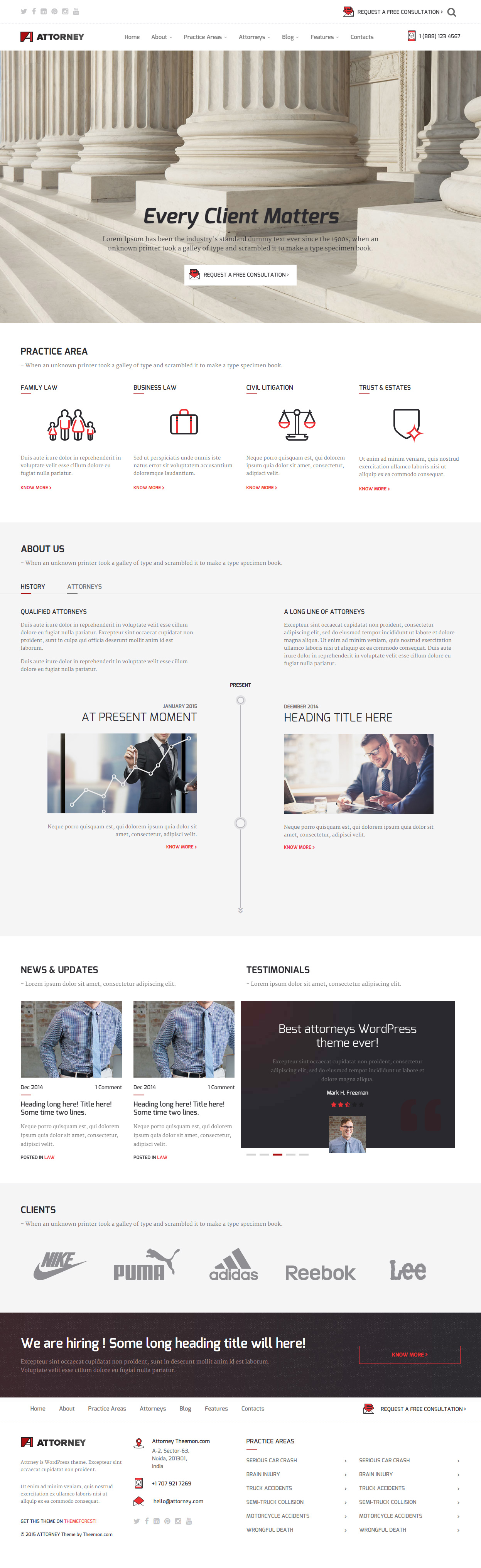 15+ Best Responsive Lawyer Templates HTML5 2017 - Responsive Miracle