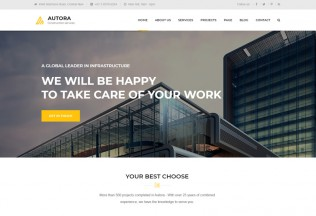 Autora – Premium Responsive Construction Business HTML5 Template