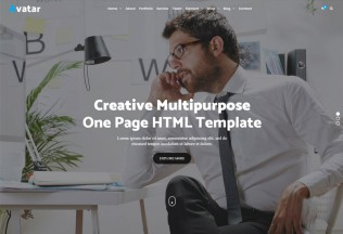 Avatar – Premium Responsive One Page Multipurpose Business HTML5 Template