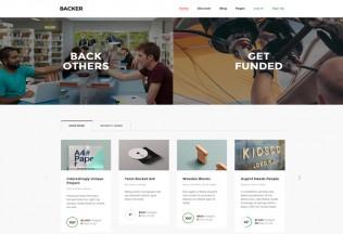 Backer – Premium Responsive Crowdfunding WordPress Theme