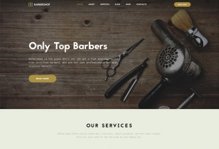 Barbershop – Premium Responsive Hair Care & Hair Styling HTML5 Template