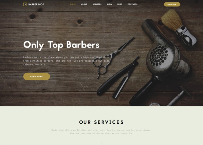 Barbershop – Premium Responsive Hair Care & Hair Styling HTML5 Template
