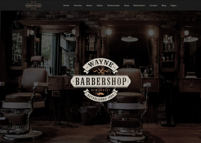 Barbershop Pro – Premium Responsive Barbershop WordPress Theme