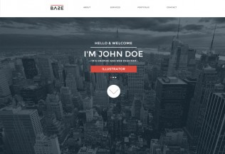 Base – Premium One Page Parallax Muse Template