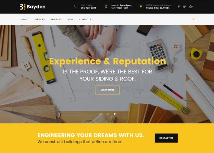 Bayden – Premium Responsive Architecture & Construction Company WordPress Theme