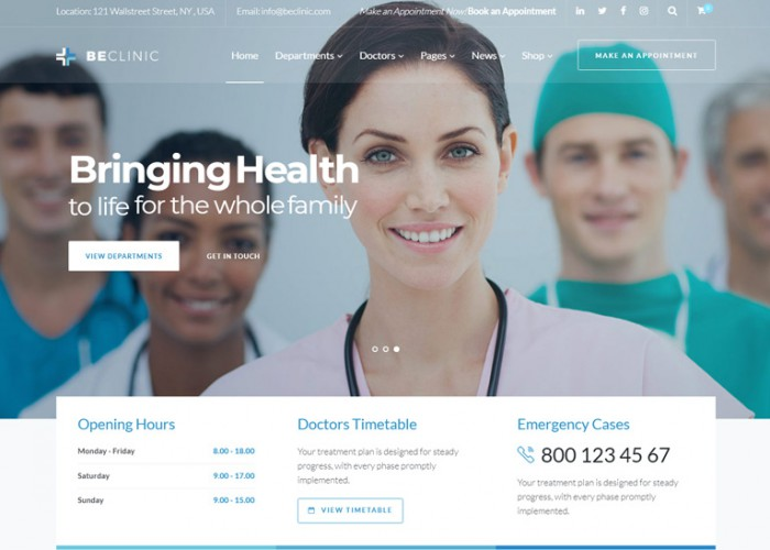 BeClinic – Premium Responsive Multipurpose Medical WordPress Theme