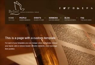 Belief – Premium Responsive WordPress Theme for Churches