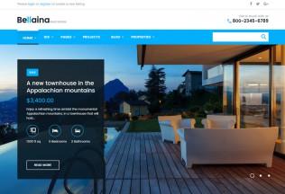 Bellaina – Premium Responsive Real Estate WordPress Theme