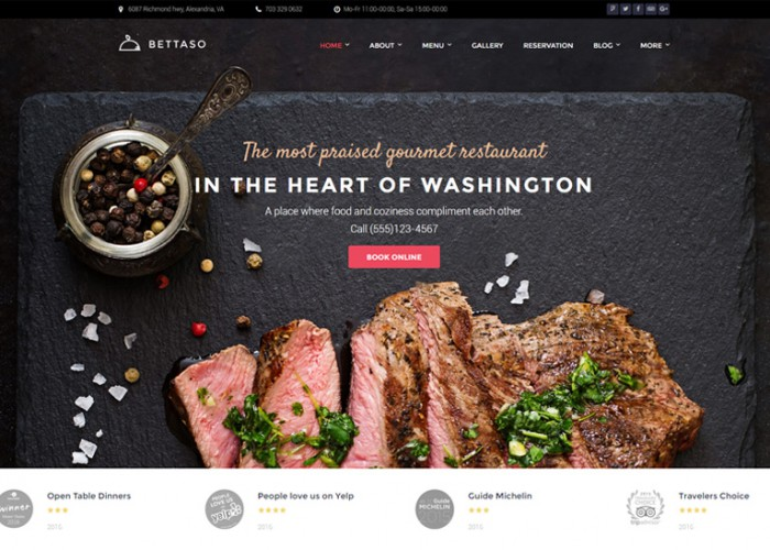 Bettaso – Premium Responsive Cafe & Restaurant WordPress Theme
