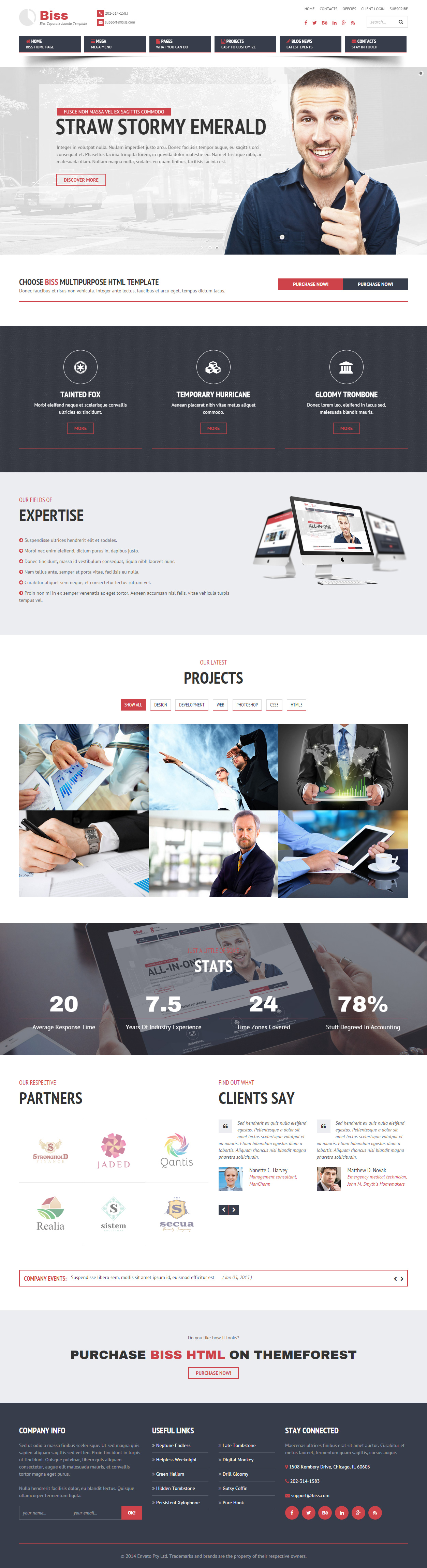 25+ Best Joomla Corporate Template 2017 - Responsive Miracle