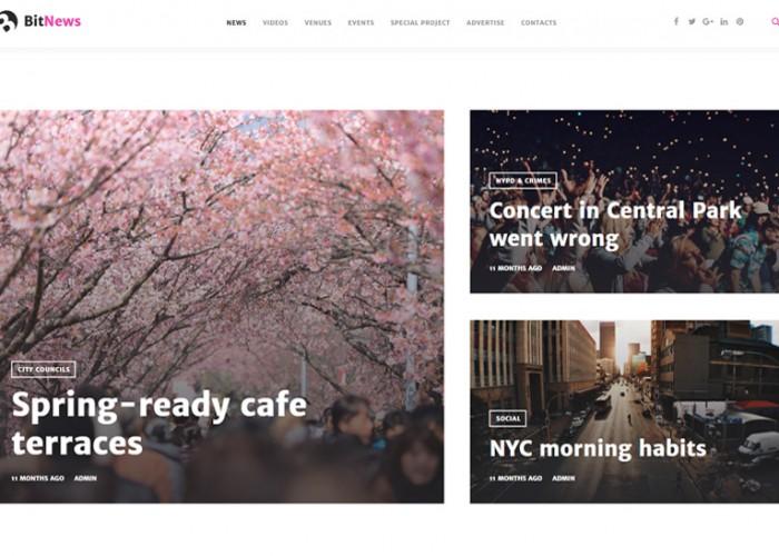 BitNews – Premium Responsive Blog Magazine & News Portal WordPress Theme