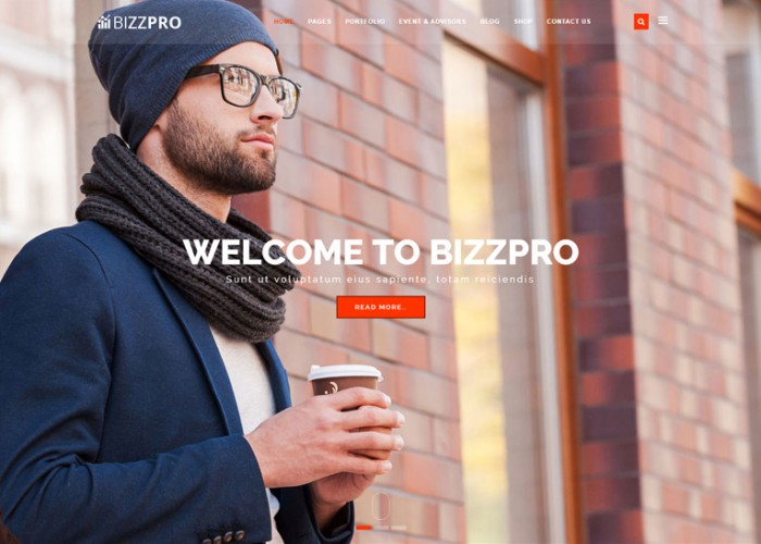 Bizzpro – Premium Responsive Multipages Business HTML5 Template