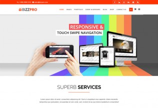 Bizzpro – Premium Responsive Multipages Business Joomla Theme