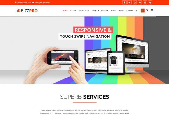 Bizzpro – Premium Responsive Multipages Business Joomla Theme