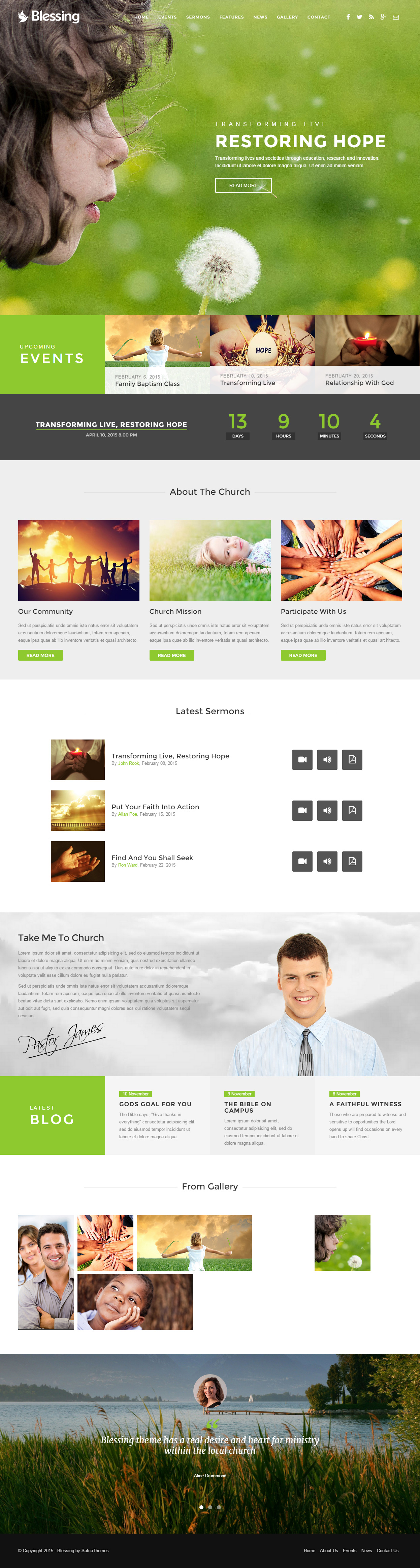 Best HTML Charity Website Templates Responsive Miracle - Church website templates