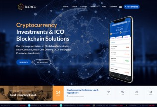 Blokco – Premium Responsive ICO, Cryptocurrency WordPress Theme
