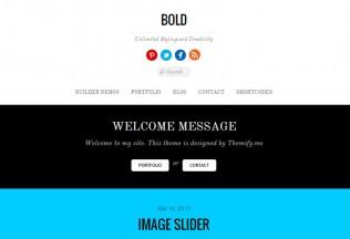 Bold – Premium Responsive WordPress Blog & Portfolio Theme