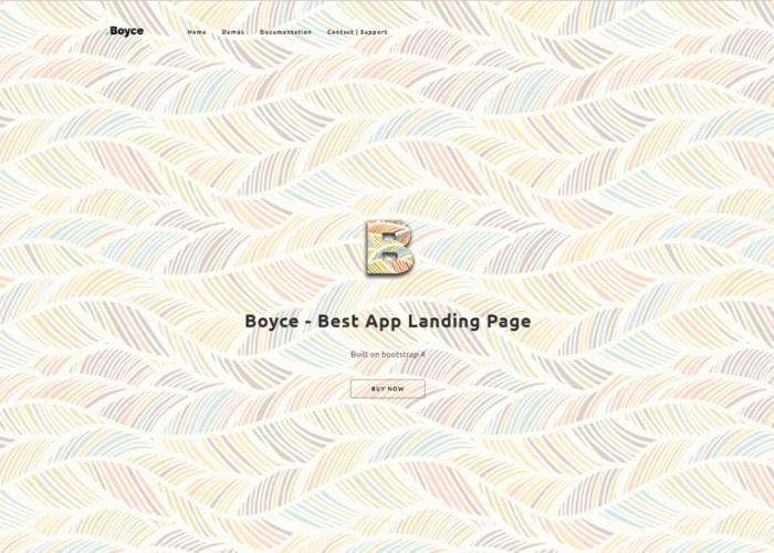 Boyce – Premium Responsive App Landing Page Bootstrap 4 HTML5 Template