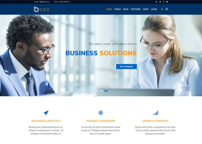 Bozz – Premium Responsve Corporate and Business Joomla Template