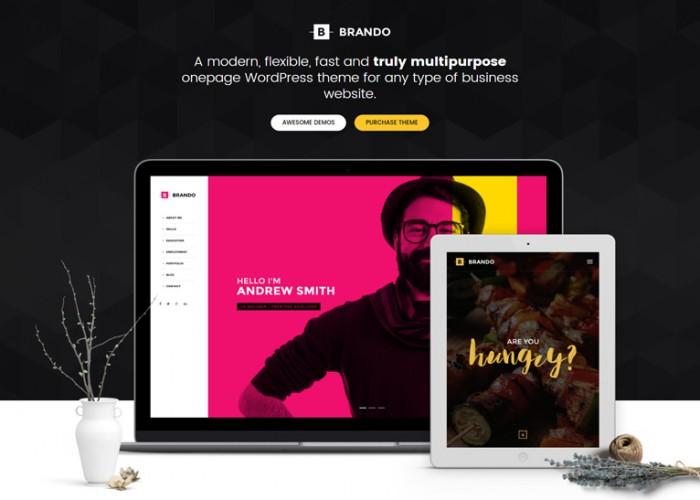 Brando – Premium Responsive Multipurpose OnePage WordPress Theme