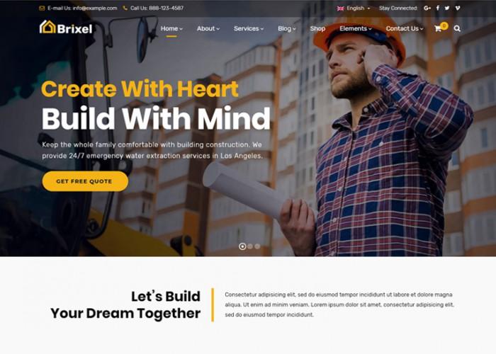Brixel – Premium Responsive Construction Building WordPress Theme