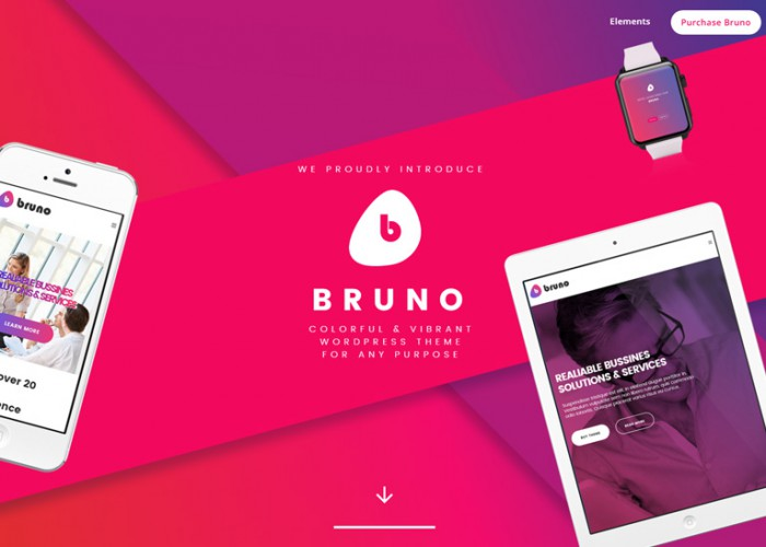 Bruno – Premium Responisve Creative MultiPurpose WordPress Theme