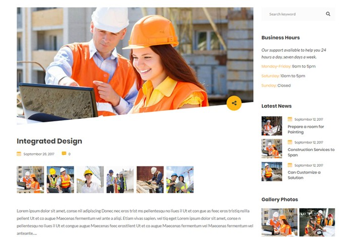 Buildana – Premium Responsive Construction & Building WordPress Theme