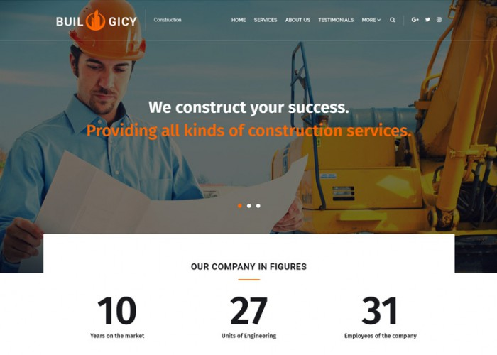 Builogicy – Premium Responsive Construction WordPress Theme