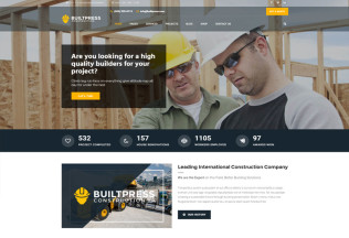 BuiltPress – Premium Responsive Building Construction WordPress Theme
