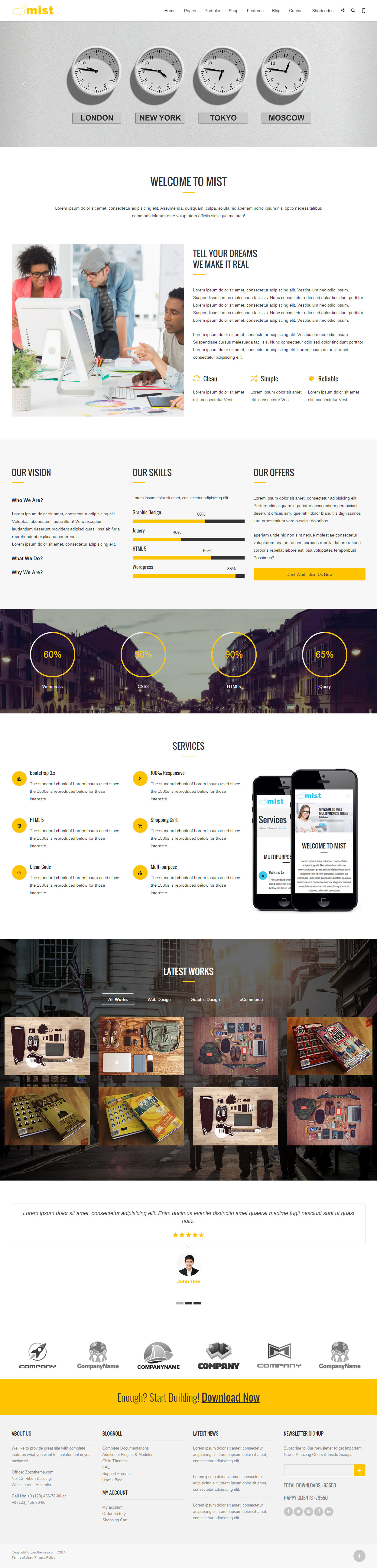 40 best html5 business website templates 2017 responsive miracle