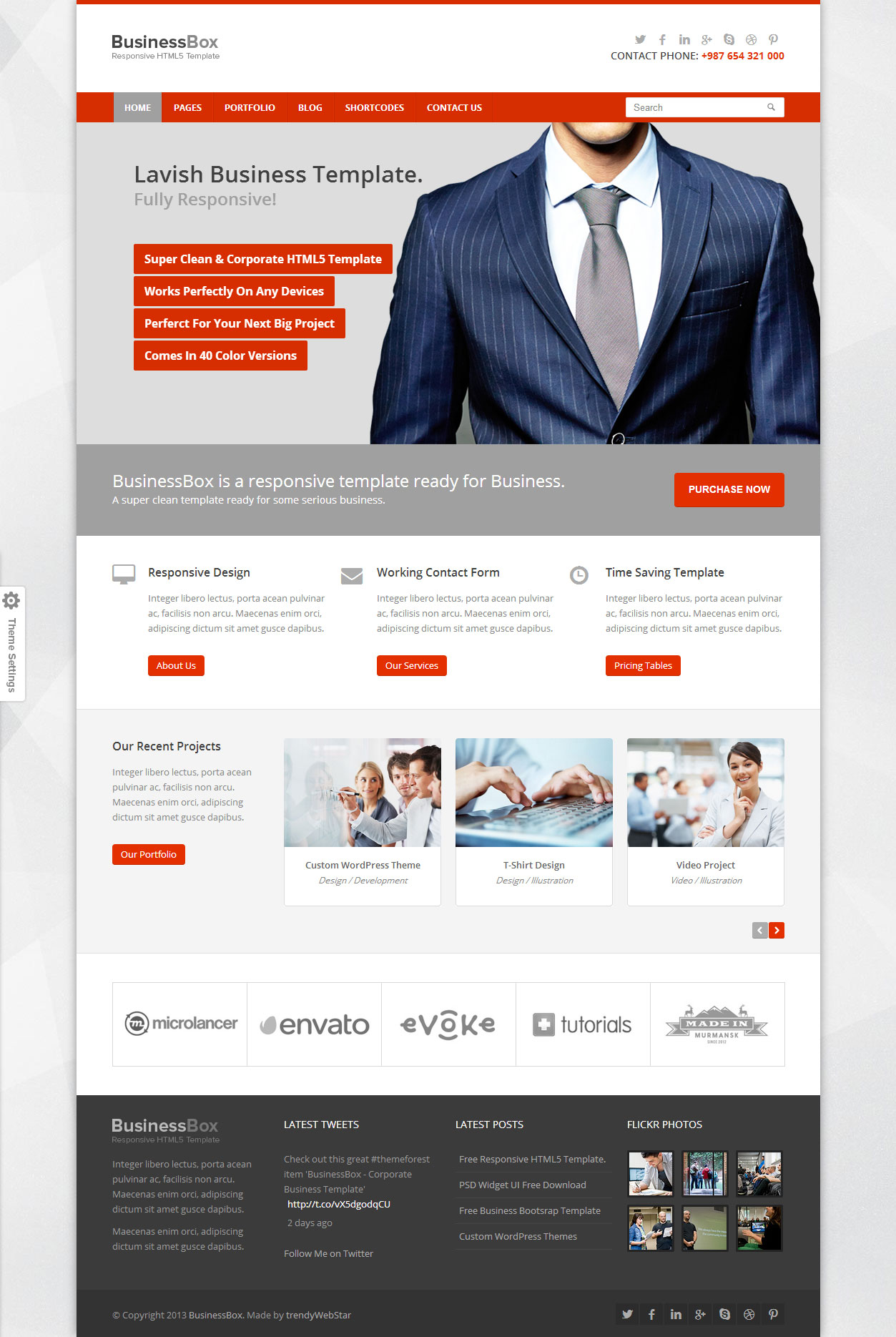 Businessbox corporate business responsive html5 template optimised for desktop cheaphphosting Gallery