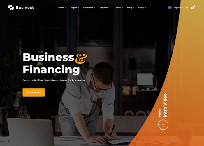 Businext – Premium Responsive Businesses & Financial WordPress Theme