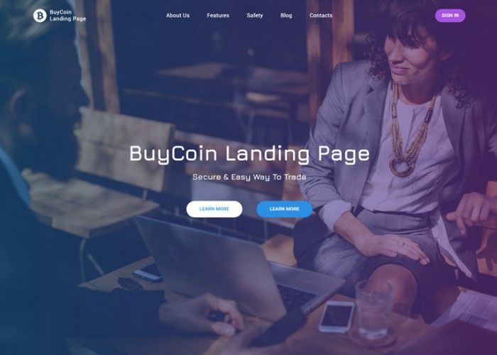 BuyCoin – Premium Resposnive Cryptocurrency Landing Page HTML5 Template