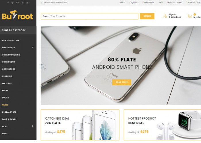 Buyroot – Premium Responsive MultiPurpose Magento 2 Theme