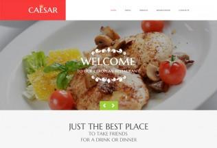 Caesar – Premium Responsive Cafe and Restaurant HTML5 Template