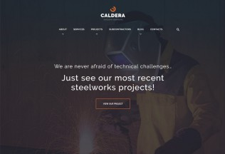 Caldera – Premium Responsive Steelworks and Constructions WordPress Theme