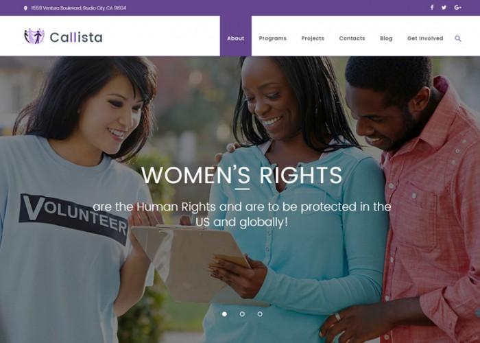 Callista – Premium Responisve Charity & Fundraising WordPress Theme