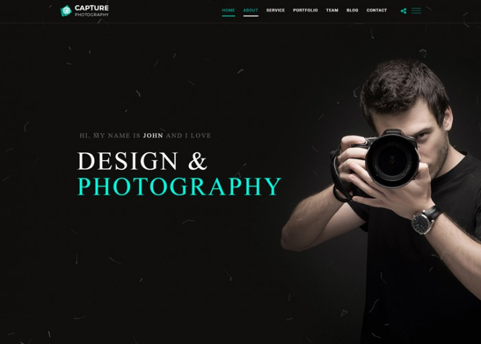 Capture – Premium Responsive Photography and Personal Portfolio HTML5 Template
