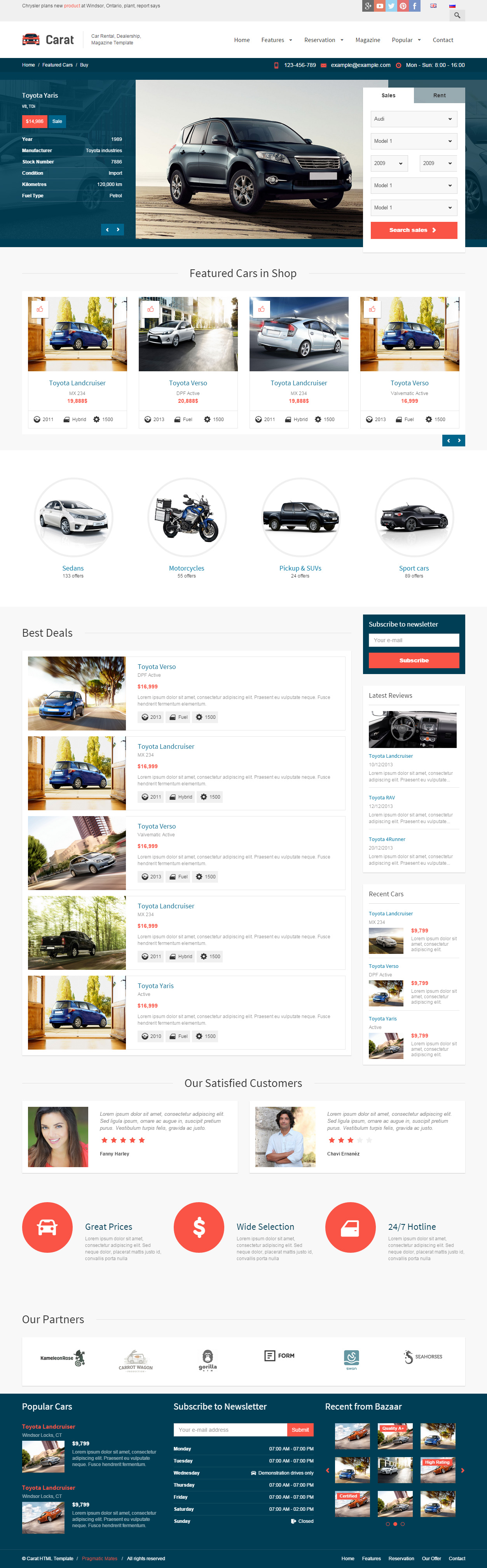 Best responsive html5 car rental templates 2014 1