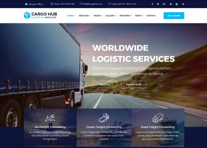 Cargo HUB – Premium Responsive Transportation Logistics WordPress Theme