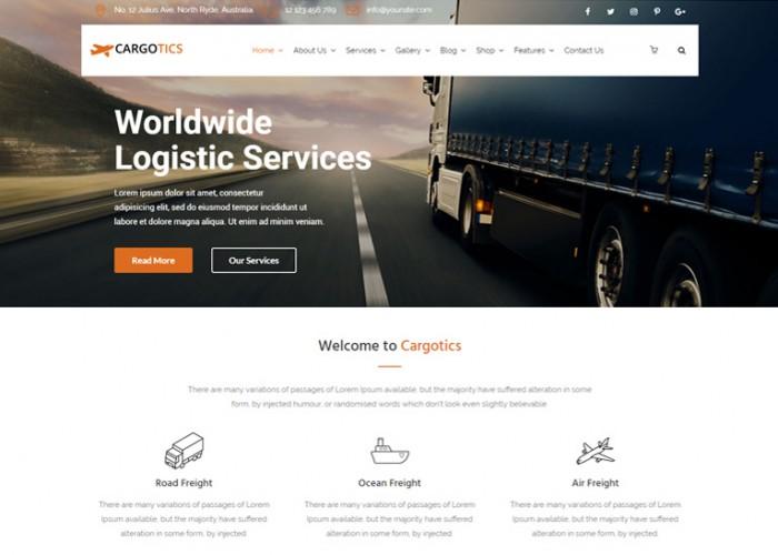 Cargotics – Premium Resopnsive Transportation WordPress theme