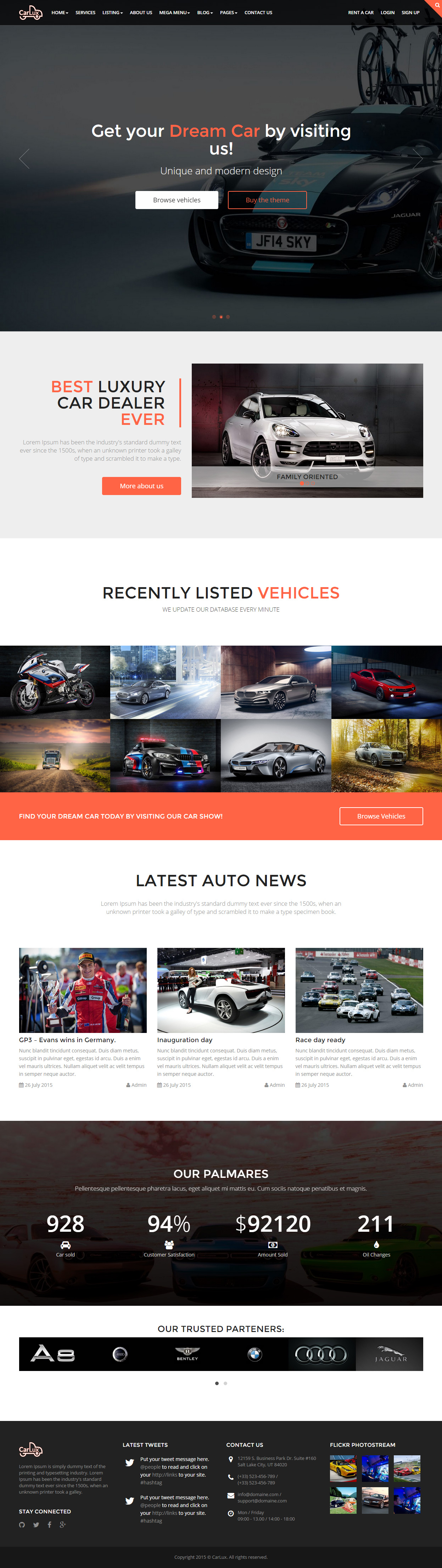 10 best responsive html5 cars and car dealership templates 2015 0