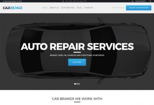 CarRepair – Premium Resposnive Auto Repair Services WordPress Theme
