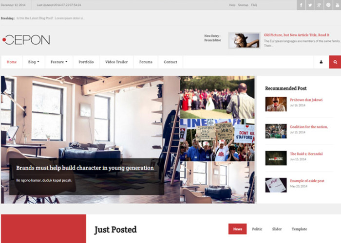 Cepon – Premium Responsive News and Magazine WordPress Themes