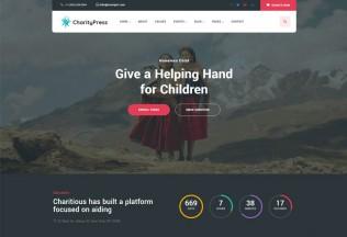Charitious – Premium Responsive Fundraising Charity WordPress Theme