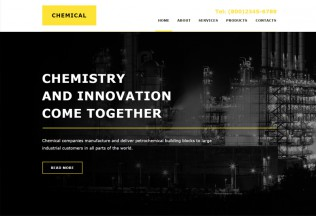 Chemical – Premium Industrial Muse Template